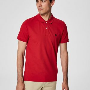 SELECTED HOMME Slharo SS Embroidery Polo