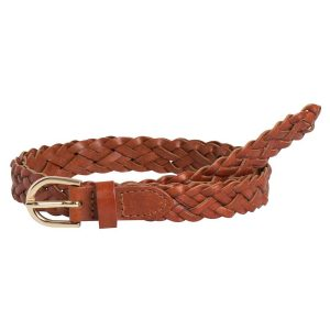 CINTURON PIECES PCAVERY LEATHER BRAIDED SLIM BELT